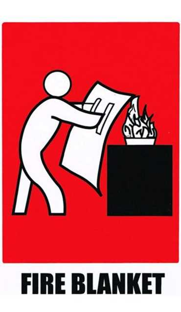 Picture of Fire Blanket Location Sticker 150x100mm