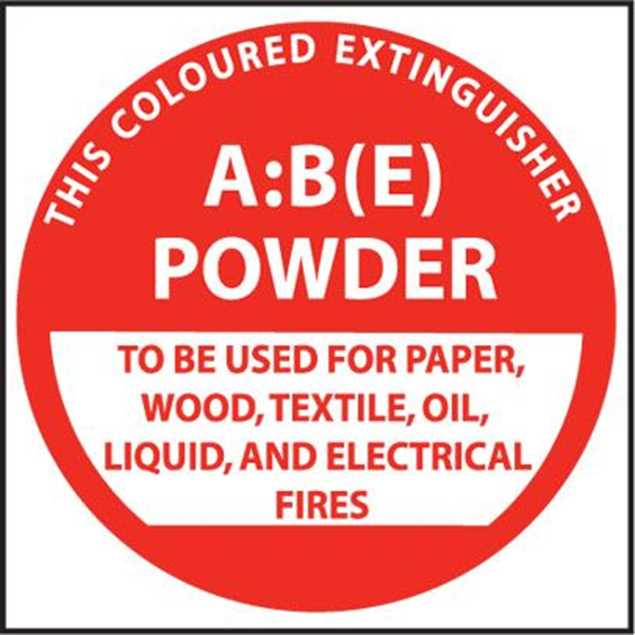 Picture of Fire Extinguisher Identification Plastic Sign A:B ( E )