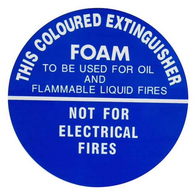 Picture of Fire Extinguisher Identification Plastic Sign WATER