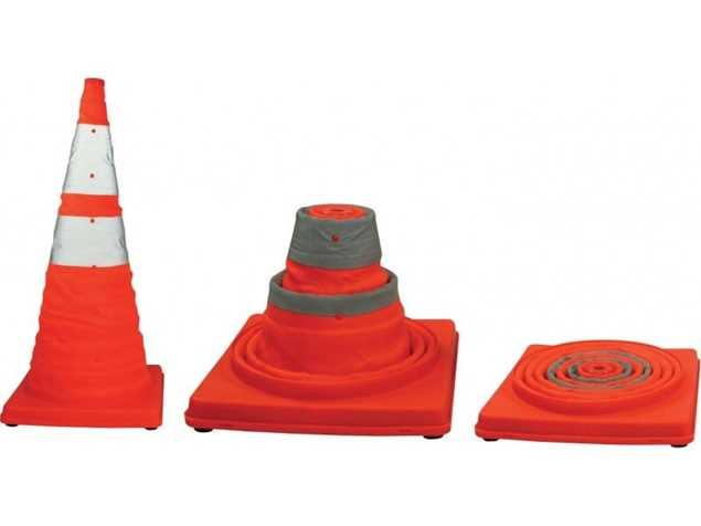 Picture of Collapsible 450mm Traffic Cone with Light and Reflective Band