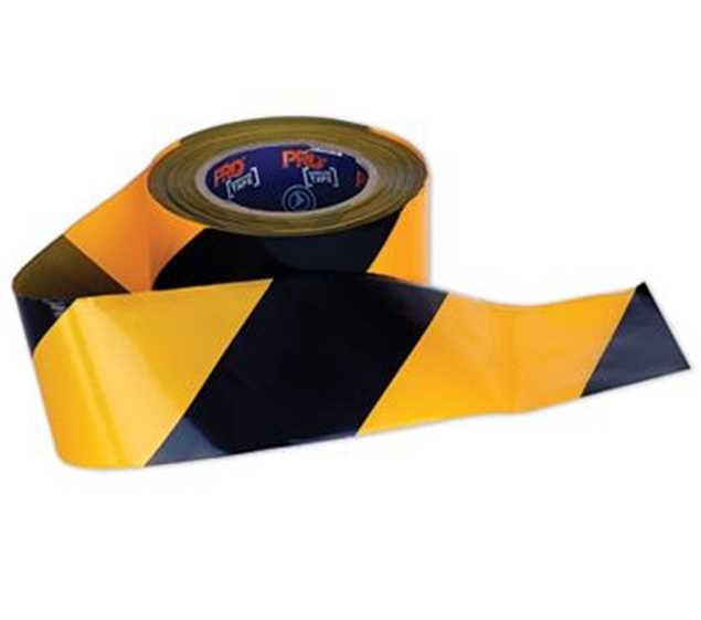 Picture of Barricade Tape Yellow/Black 100mt roll