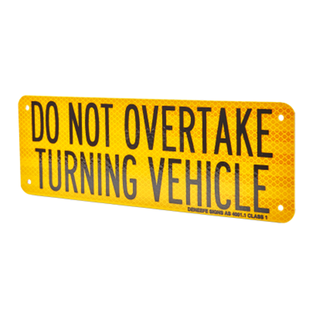 Picture of Do Not Overtake Turning Vehicle Aluminium 300mm x 100mm