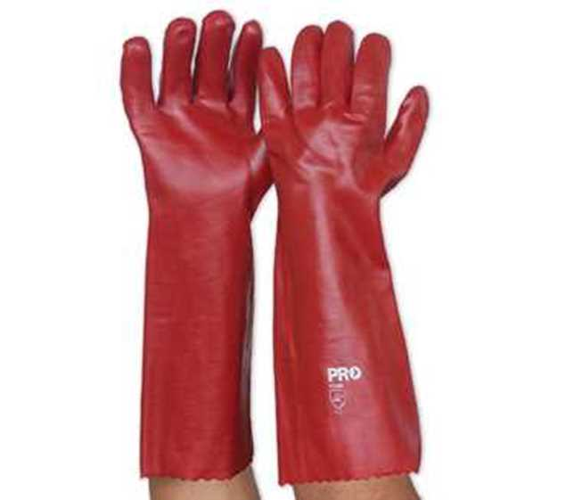 Picture of ProChoice Red PVC Glove Long 45cm
