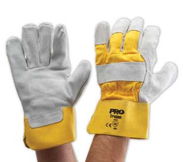 Picture of ProChoice Yellow Grey Leather Glove