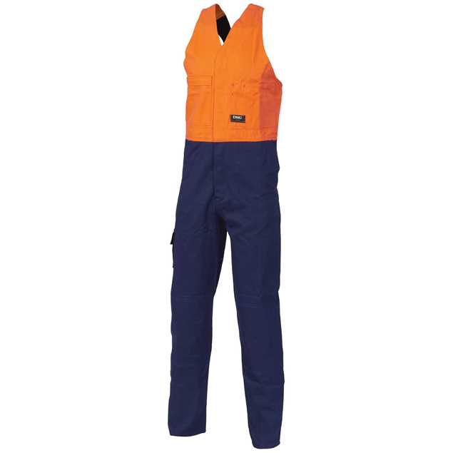 Picture of DNC Hi Vis Two Tone Cotton Action Back Overall