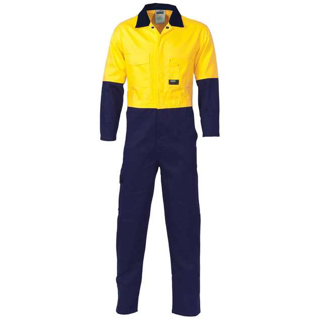 Picture of DNC Lightweight Cool-Breeze Hi Vis Cotton Drill Coverall