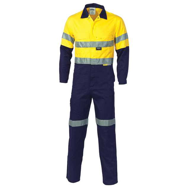 Picture of DNC Two Tone Cotton Coverall with 3M R/Tape