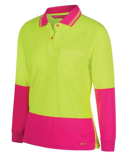 Picture of JB's Ladies Hi Vis Long Sleeve Comfort Polo