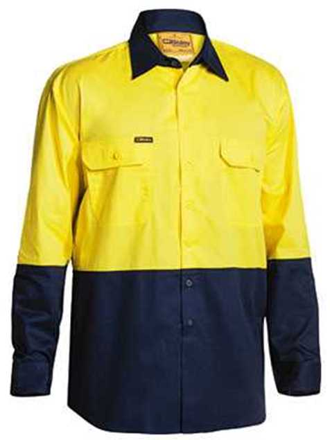 Picture of Bisley Two Tone Hi Vis Lightweight L/S Shirt