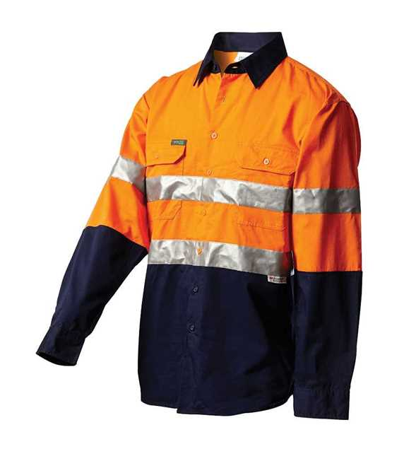 Picture of Workit Hi Vis Lightweight Taped L/S Shirt