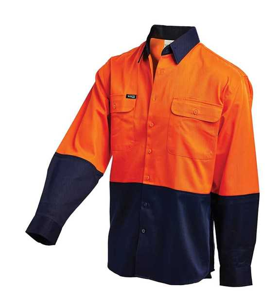 Picture of Workit Hi Vis Two Tone Lightweight L/S Drill Shirt