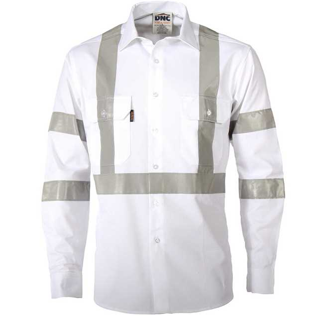 Picture of DNC RTA Night Worker White Shirt with Reflective Tape