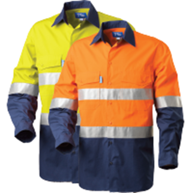 Picture of Tru Workwear Rip Stop Cool Performance L/S Shirt with 3M Tape