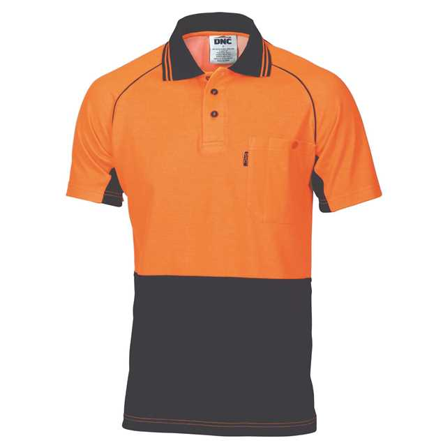Picture of DNC Cotton Back Cool-Breeze S/S Contrast Polo