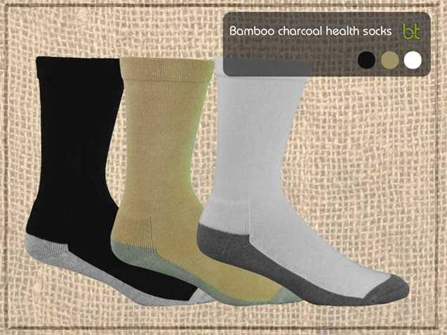 Picture of Bamboo Textiles Charcoal Health Socks