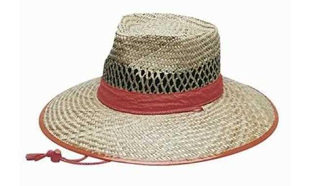 Picture of Headwear Natural Straw Hat Orange Trim
