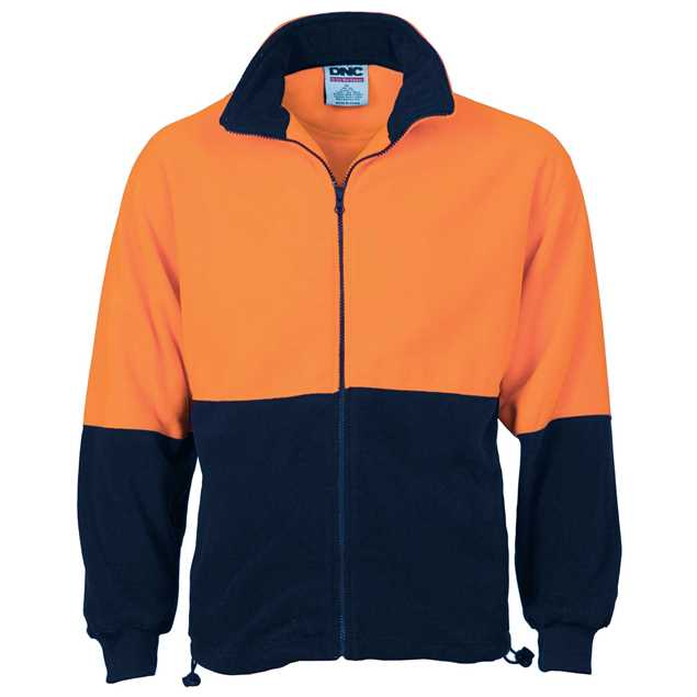 Picture of DNC Hi Vis Two Tone Full Zip Polar Fleece Jacket