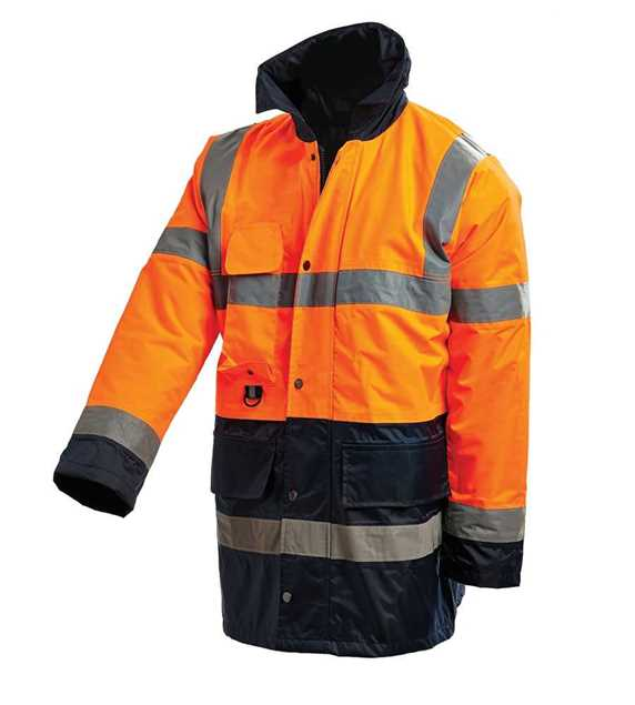 Picture of Workit Hi Vis 3/4 Length 2 Tone Wet Weather Jacket