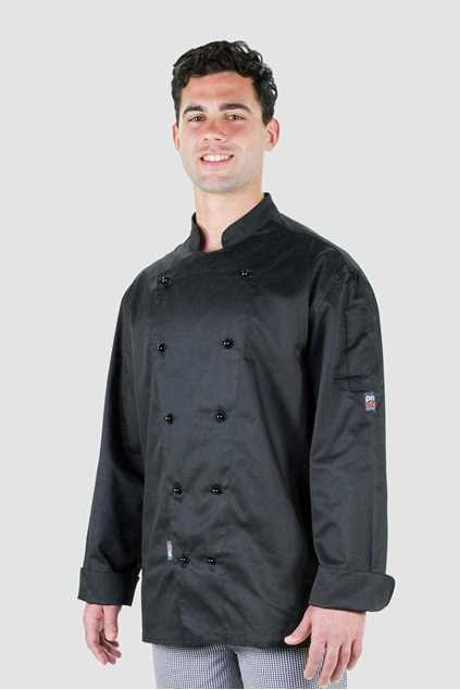 Picture of Pro Chef Traditional Long Sleeve Chef Jacket - Black