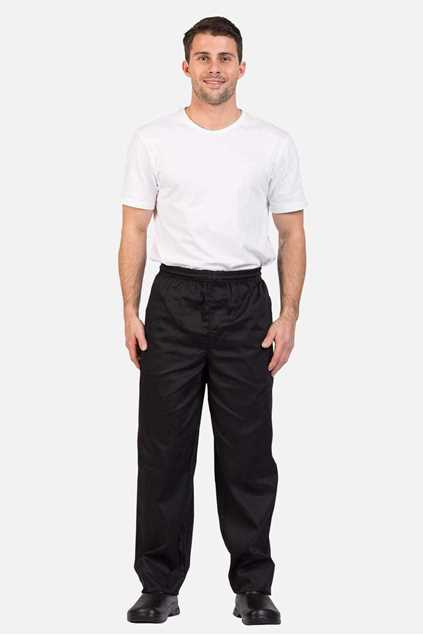 Picture of Pro Chef Traditional Drawstring Pants - Black