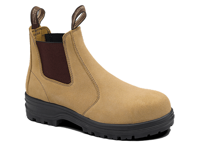 Picture of Blundstone Style 145 Elastic Sided Fawn Suede Leather Safety Boot