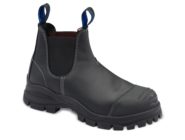 Picture of Blundstone Style 990 Elastic Sided Black Leather Safety Boot with Bump cap