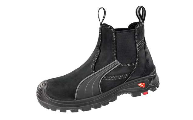 Picture of Puma Tanami Black Elastic Sided Safety Boot 630347