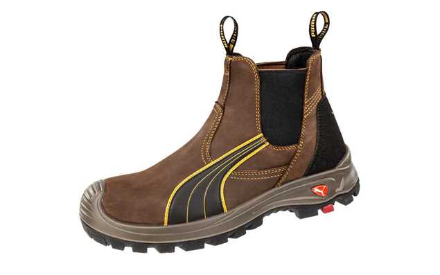 Picture of Puma Tanami Brown Elastic Sided Safety Boot 630267