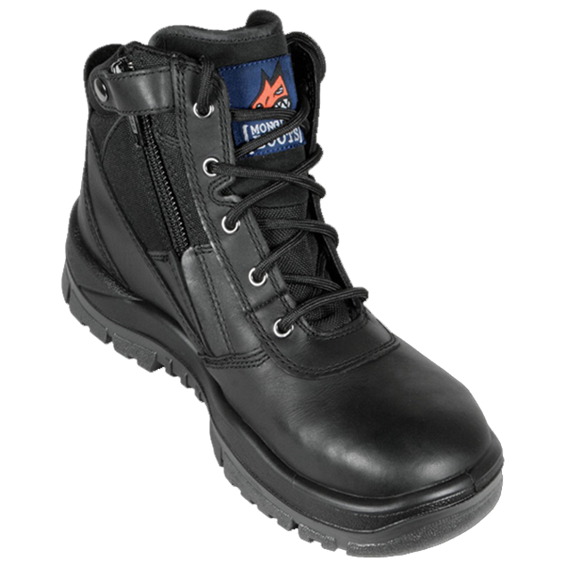 Picture of Mongrel P Series Black Zip Sider Safety Boot 261020