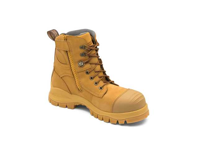 Picture of Blundstone Style 992 Zip Up Wheat Leather Safety Boot