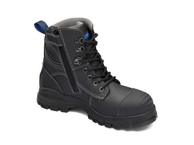 Picture of Blundstone Style 997 Zip Up Black Leather Safety Boot